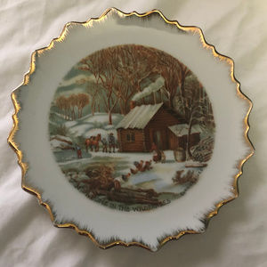 Currier & Ives A Home In The Wilderness -Winter